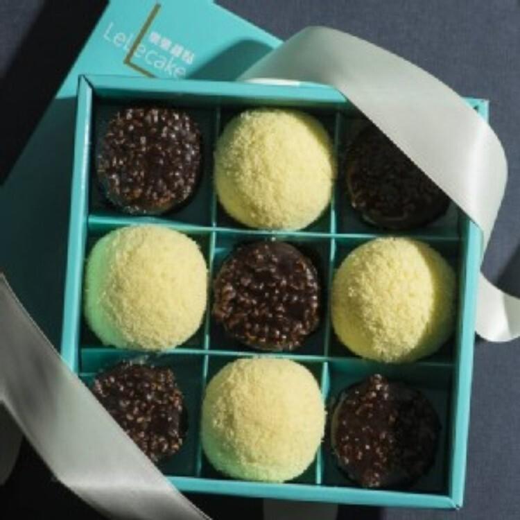 樂樂派對禮盒脆皮提拉米蘇+初雪乳酪蛋糕(一盒)