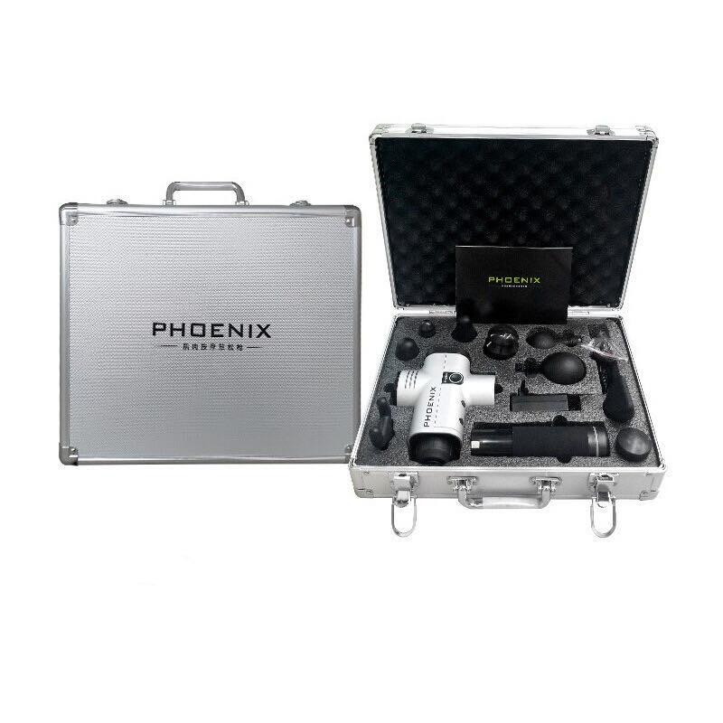phoenix a1 筋膜槍 按摩槍 內附9個按摩頭 送鋁箱