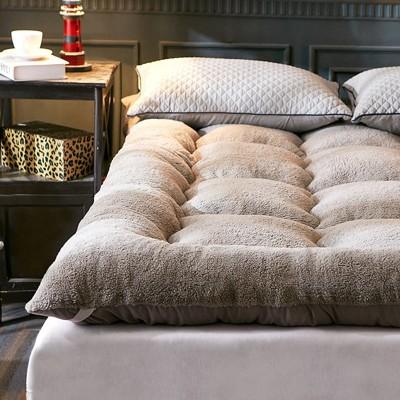 1.2m床墊 超厚10cm羊羔絨床墊加厚保暖羽絲絨床墊子1.5m1.8m (5.7折)