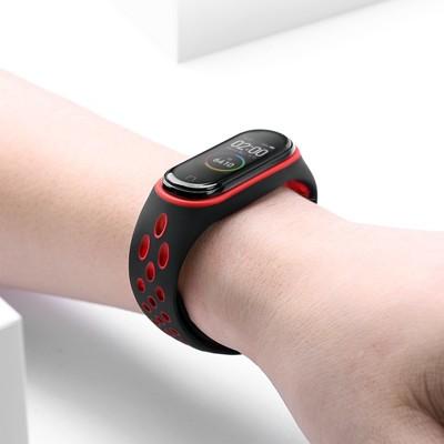 小米手環4錶帶 適用小米手環3腕帶小米4手環腕帶智能運動手錶三代替換手錶帶nfc通用硅膠防摔防水個性 (7.3折)