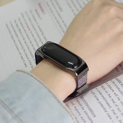 小米手環4錶帶 米布斯適用小米手環4代3代nfc尼龍腕帶回環金屬2代免調節替換錶帶 (6.7折)