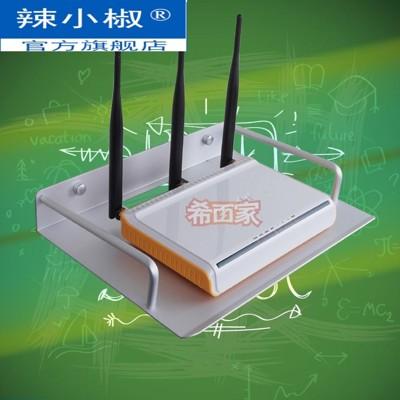 電視機頂盒架 太空鋁網絡電視機頂盒架無線路由器置物架托架電話機架壁掛散熱型 - 小蘋果銀色19.5* (5.4折)