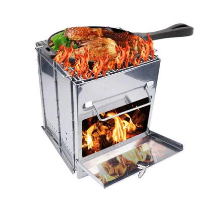 大款304不鏽鋼烤網 折疊燒烤爐 取暖爐 柴火爐 育空爐 機車爐 隨身爐 野營戶外 野炊爐 BBQ燒 (7.5折)