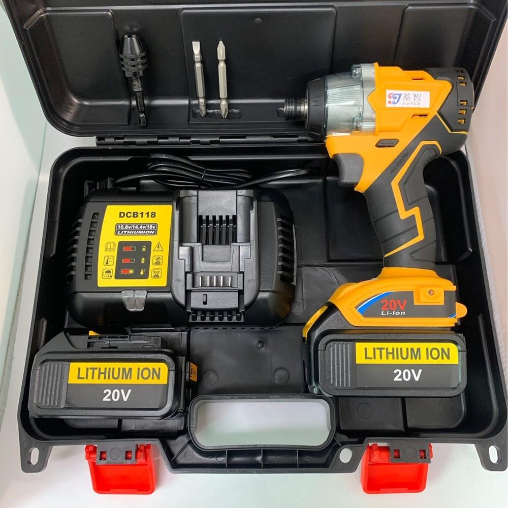 鋰電無刷衝擊起子 通用得偉 21v(18v) 組合搭配系列 /3.0ah 兩電一充(雙電池)