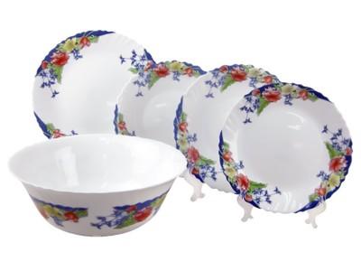 【法國ARCOPAL】現代藍強化餐具五件組 (5.9折)