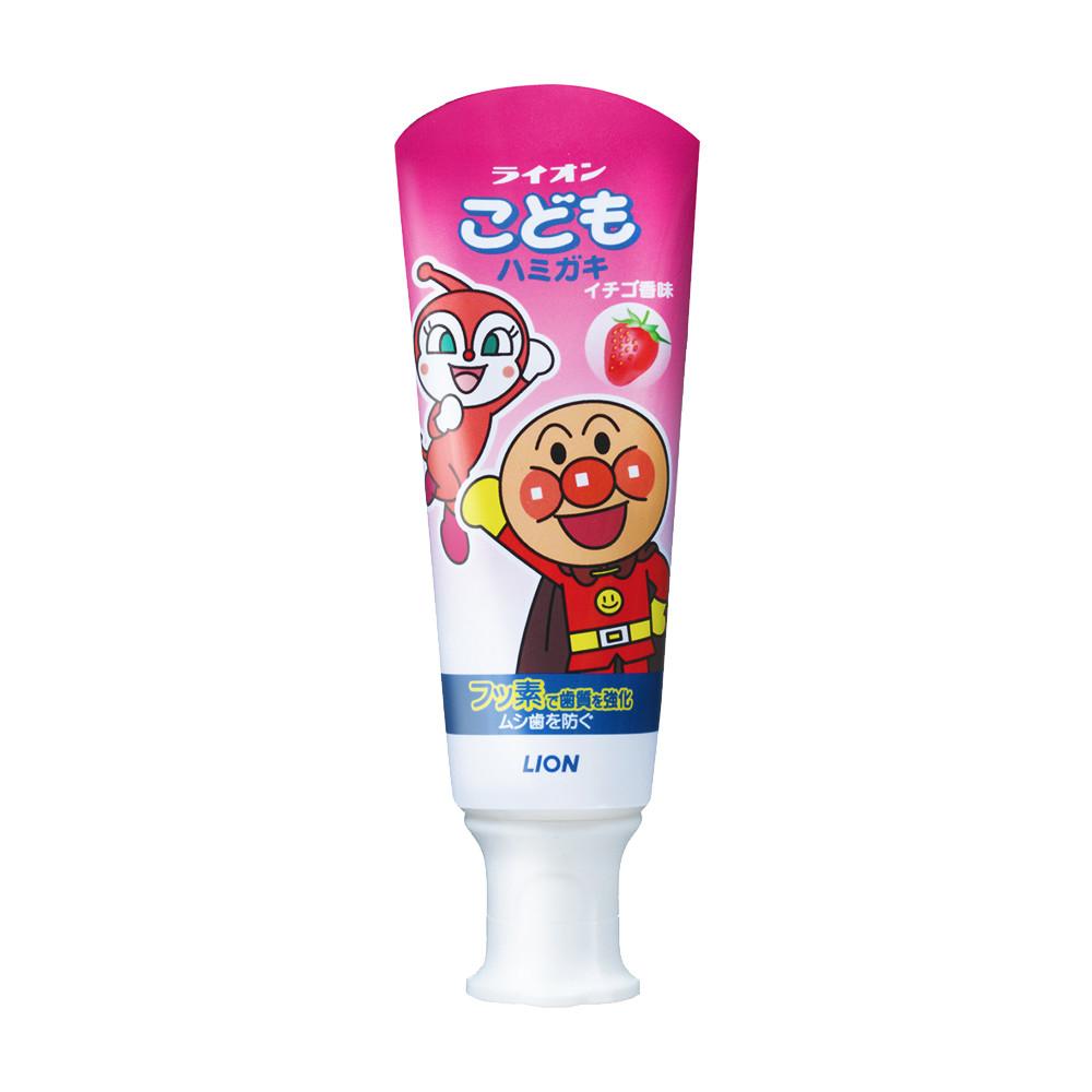 日本獅王麵包超人牙膏-草莓40g