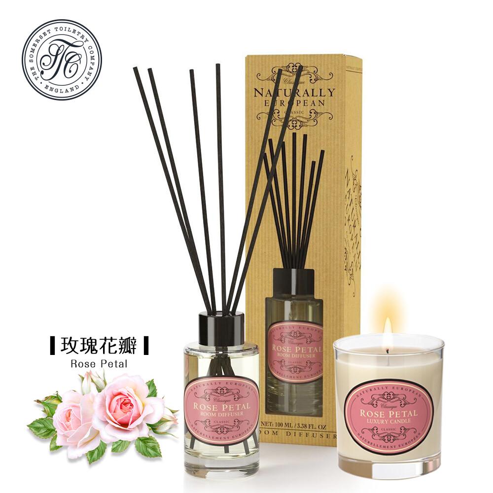 英國賽玫特自然歐洲香氛優惠組(擴香+蠟燭)-玫瑰花瓣