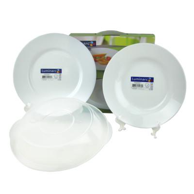 法國Luminarc【樂美雅】純白強化餐盤三件組 (6.3折)