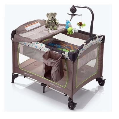 多功能遊戲床 嬰兒床 摺疊床 攜帶嬰兒床 附尿布台 音樂鈴 (5折)
