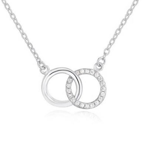 925純銀項鍊 雙環扣吊墜-精緻質感百搭女配件73v161米蘭精品
