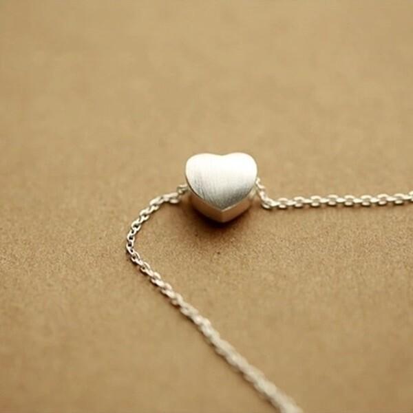 米蘭精品925純銀項鍊 吊墜-愛心造型獨特唯美百搭女配件73y87