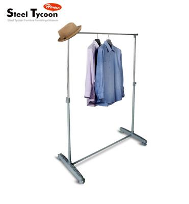 【Steel Tycoon】時尚銀鐵灰單桿衣架 (5.3折)