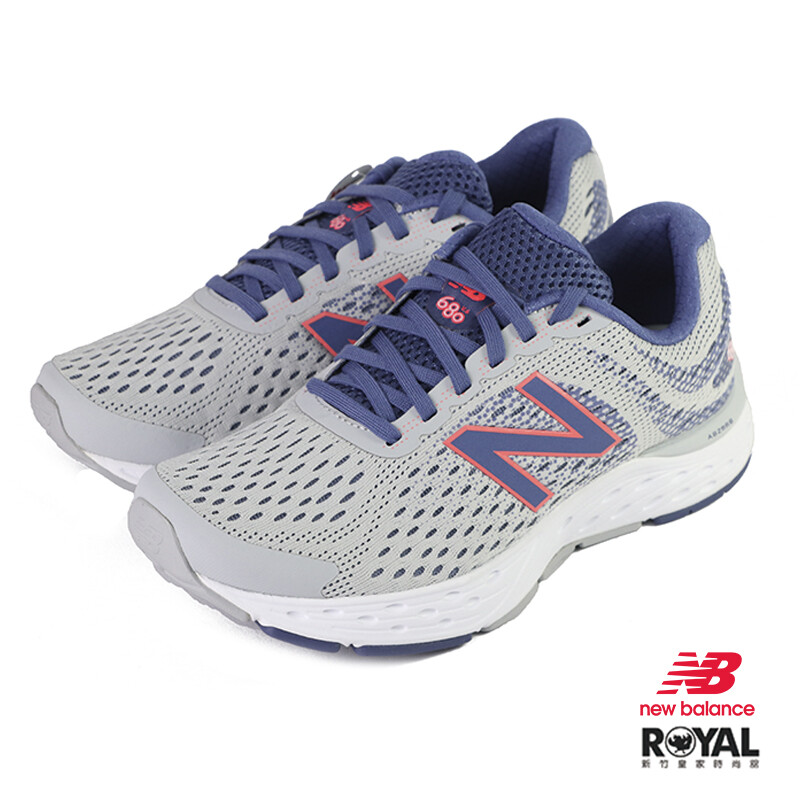 new balance 680 灰紫色 網布 休閒運動鞋 女款 no.j0459