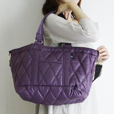 日本 ROOTOTE Mammy Roo 2way 側肩背包 手提包 媽媽包 空氣包 紫色 (7折)
