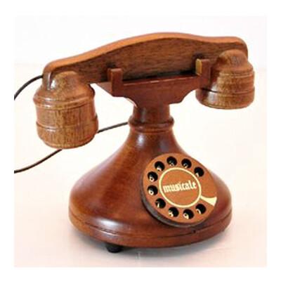 【日本SANKYO】音樂機芯/音樂盒/音樂鈴-傳統轉盤式古典電話 (8.5折)