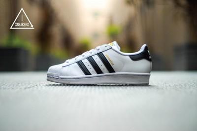 ISNEAKERS Adidas Superstar 經典 金標 男女鞋 C77124 C77154 (9.1折)