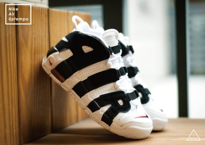 ISNEAKERS Nike Air More Uptempo 白黑 大AIR 415082-105 (9.3折)