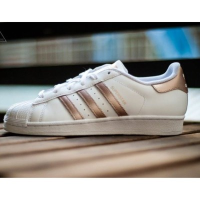 ISNEAKERS Adidas Original Superstar 玫瑰金 經典 金標 女鞋 (8.5折)