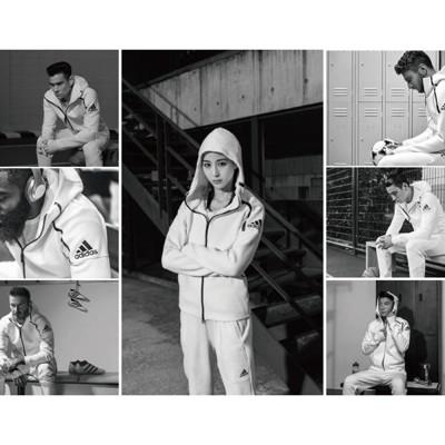 ISNEAKERS Adidas Atheltic Z.N.E. Hoodie 連帽外套 白色 (9折)