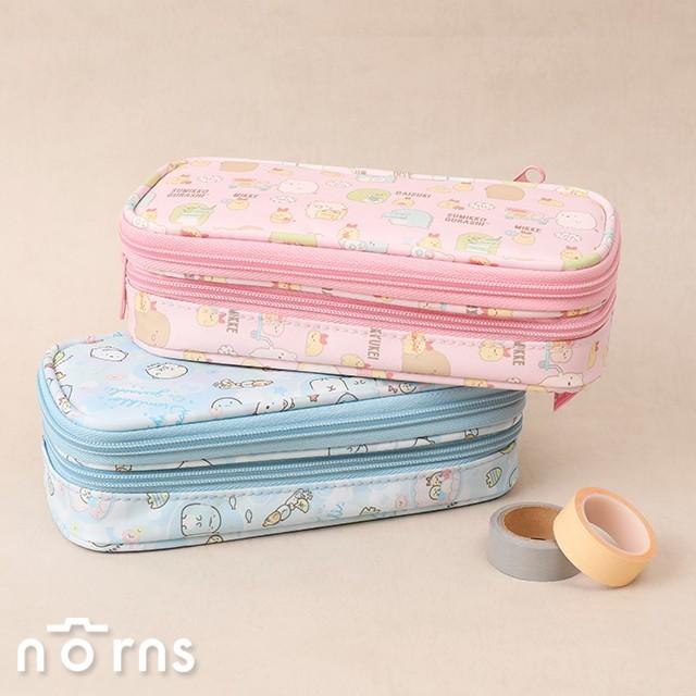 角落生物尼龍筆袋 雙層圓弧上翻式v3- norns 正版 鉛筆盒 文具收納袋 角落小夥伴