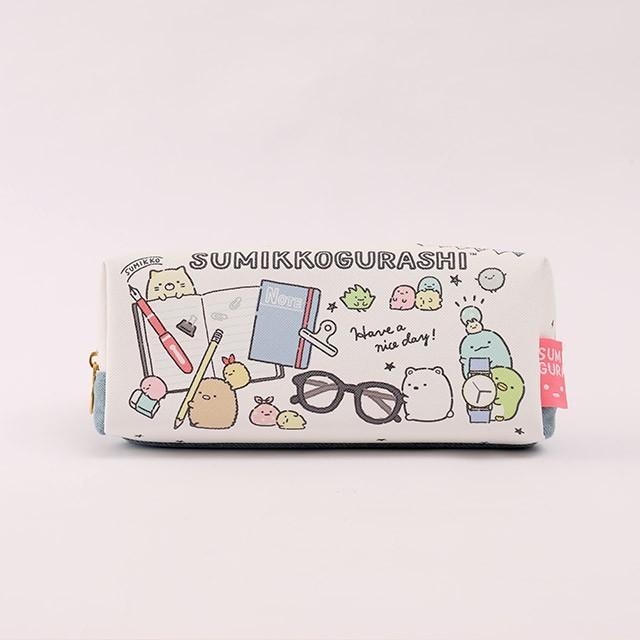 日貨角落生物筆袋 單寧系列- norns 日本正版 鉛筆盒 牛仔拼布 - 單寧系列