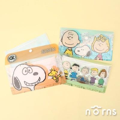 Snoopy多功能口罩收納夾v2附扣款- Norns 史努比 台灣製 口罩夾 雙層文件萬用收納套 (7.1折)
