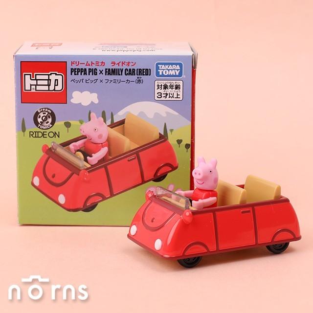 日貨tomica小汽車 騎乘系列 peppa pig- norns 日本多美小汽車 佩佩豬 附公仔