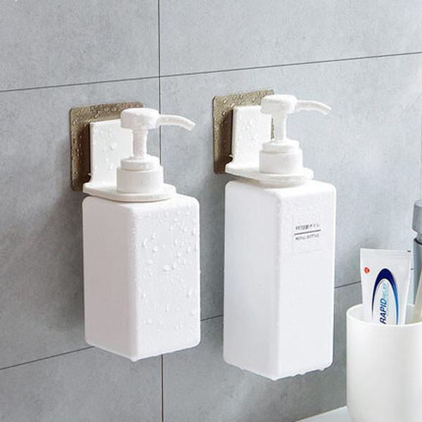 居家寶盒1入 無痕沐浴乳掛架 洗手乳掛架 萬用架 免打孔 無殘膠 浴室收納 無痕掛鉤 瓶罐支架