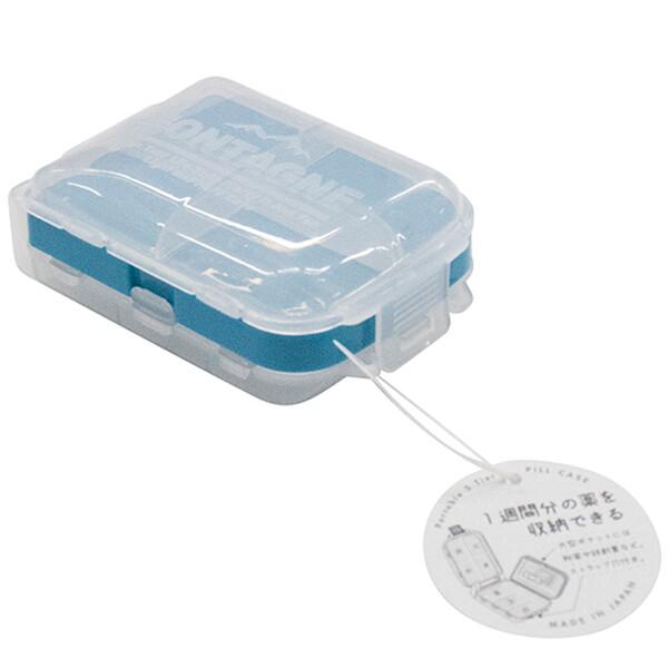 居家寶盒日本製no.1437 三段式摺疊藥盒 透明可視攜帶三層小物收納盒 多格 飾品收納 藥盒