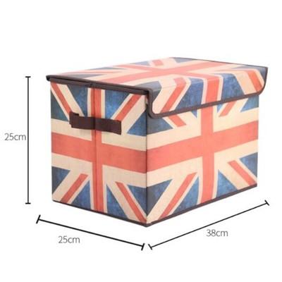 居家寶盒【YV6537】英倫風復古折疊 雜物衣物收納箱整理箱 衣服收納 玩具收納 收納袋 收納櫃 收