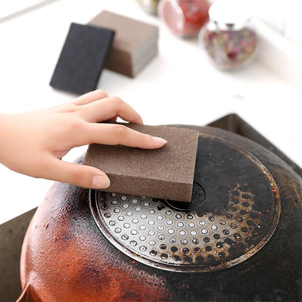 居家寶盒1入厚款 納米金剛砂除垢清潔魔力擦 菜瓜布 除鐵銹 鋼砂海綿 清潔除垢 廚房清潔