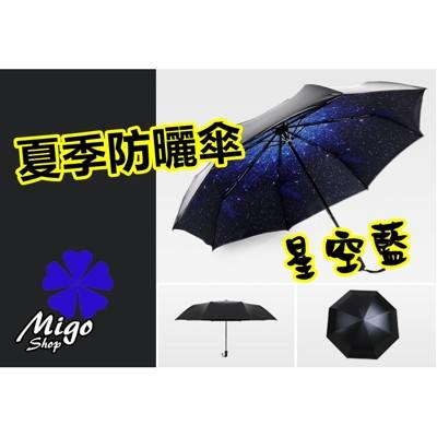 【小黑傘/摺疊傘/外黑色內有顏色《多款可選》】星空 貝拉米紅 夜鶯 夏季防曬傘 遮陽傘 摺疊傘 雨傘 (5.8折)