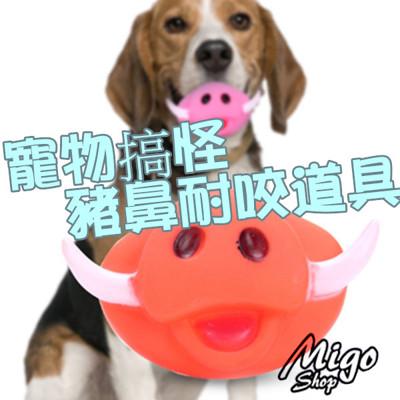 【寵物搞怪豬鼻耐咬道具】狗狗搞笑道具 耐咬 豬鼻子 (4.1折)