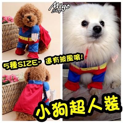 【小狗超人裝〈L號(4號)現+預〉】五種尺寸 披風 超人裝 寵物衣服 小狗 貓咪 毛小孩 (5.7折)