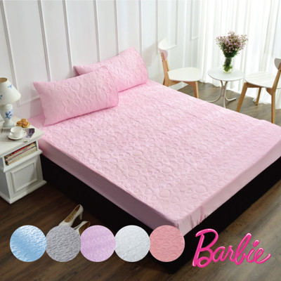 【Barbie】《時尚星光》永效型吸濕排汗機能防水加大雙人保潔墊(6色) (4.6折)