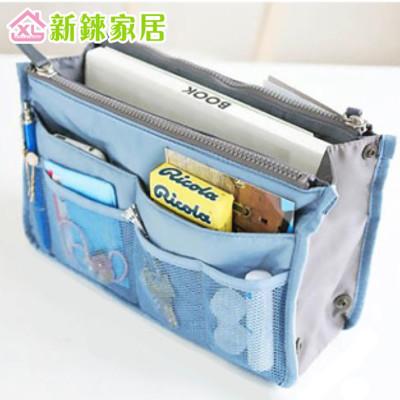 韓版 雙拉鍊包中包 BAG IN BAG 雙層超大 加厚手提式收納包 (1.7折)