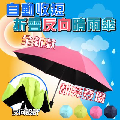 【Sinew】自動一鍵收短反向傘摺疊晴雨傘(三代抗uv反向自動伸縮晴雨傘) (2.2折)