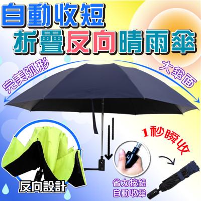【Sinew】一秒快收!自動一鍵收短反向摺疊晴雨傘(三代抗uv反向自動伸縮晴雨傘) (2.2折)
