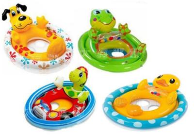INTEX 動物 寶寶 浮圈 泳圈 兒童 坐圈 游泳圈 充氣 學習 游泳 玩水 幼兒 (6.1折)