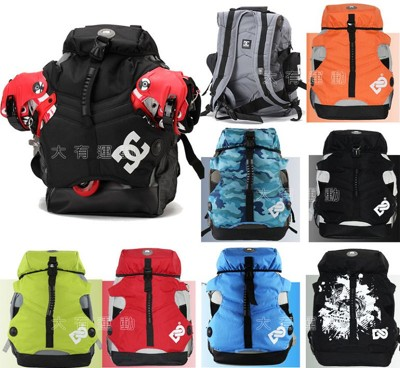 【大有運動】外銷知名品牌 DC 中包 多用途-登山 背包 輪滑鞋 溜冰鞋 直排輪 雙肩 背包 運動包 (5.2折)