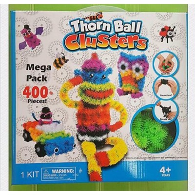 蓬蓬捏捏球/啟蒙玩具 DIY彩色毛毛魔術球 ( 百變捏捏球)( 魔鬼氈蓬蓬毛球 ) (3.4折)