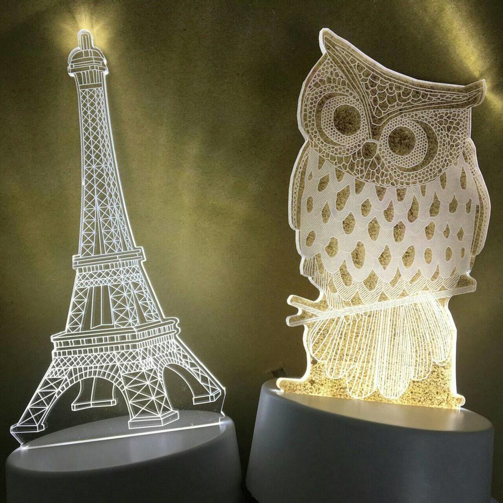 3d壓克力造型燈 led燈 造型燈 小夜燈 療癒神器 送禮 聖誕節 情人節 生日 氛圍燈
