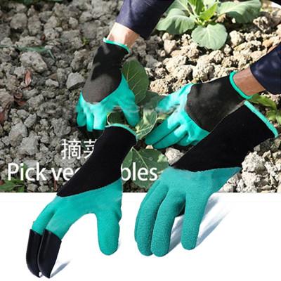 園藝挖土絕緣手套 挖土手套厚款 袋裝 園藝手套 防水 種植 種花 種菜 土撥鼠 地鼠手套 黑鬼爪 (1.1折)