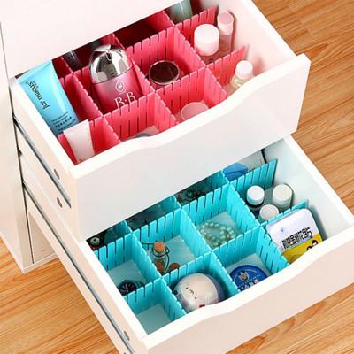 4入抽屜伸縮隔板 創意DIY抽屜分隔板(短)4入裝 抽屜收納 分隔收納 小物收納 桌上收納 衣物收納 (1.6折)