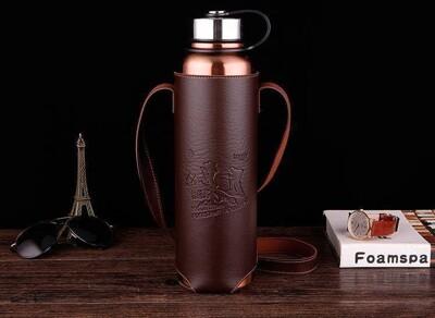 帶皮套保溫壺1500ml 水壺 保溫杯 保溫瓶 保冷 水杯 杯子 水瓶 隨身瓶 (4.5折)