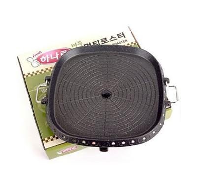 韓國HANARO排油方形烤盤(32cm) 排油 不沾 好清洗 火烤兩用 韓式烤肉油切烤盤 室內戶外 (3.4折)