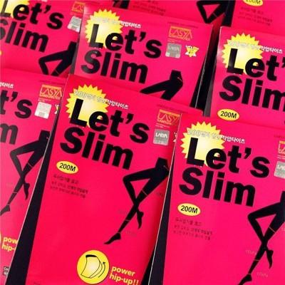 瘦腿襪(冬款)Lets slim 壓力提臀顯瘦收腹彈性厚 韓國瘦腿褲襪內搭200丹D (2.8折)
