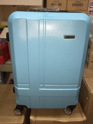 切貨金安德森24吋ABS十字條紋藍四輪行李箱 ABS材質 富韌性耐撞擊 表面一體成形耐刮斜紋 加大伸 (5.2折)