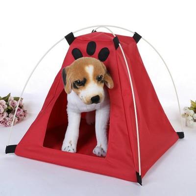 牛津布寵物帳篷 可折疊收納寵物帳篷牛津布透氣帳篷寵物帳篷窩寵物外出寵物 (2.2折)