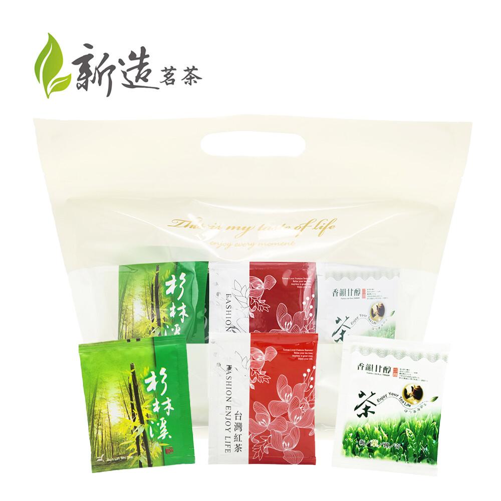 新造茗茶辦公室量販組合包  烏龍茶紅茶茉香綠茶(60入/袋)